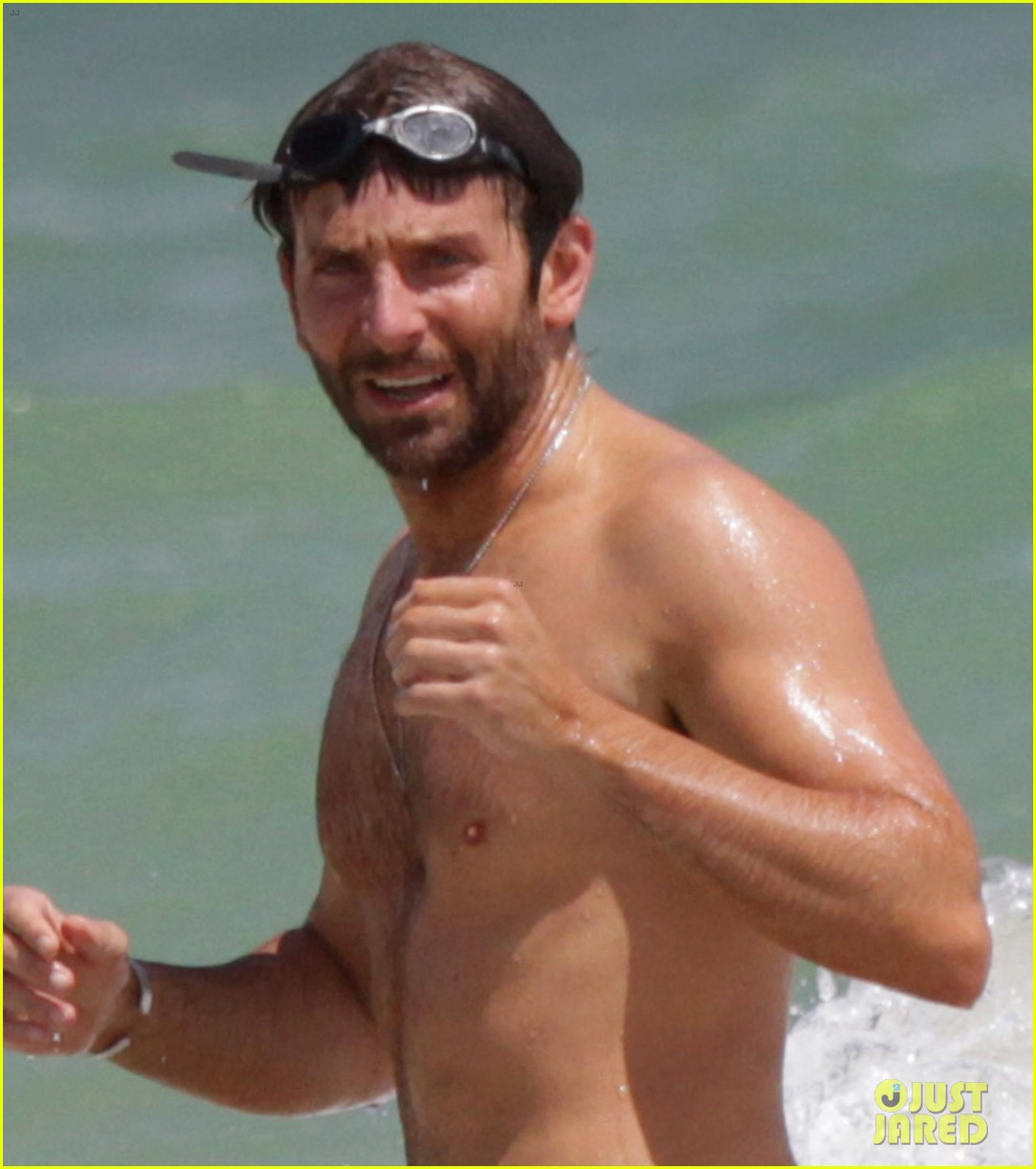 bradley cooper shirtless at the beach with suki waterhouse 102963530