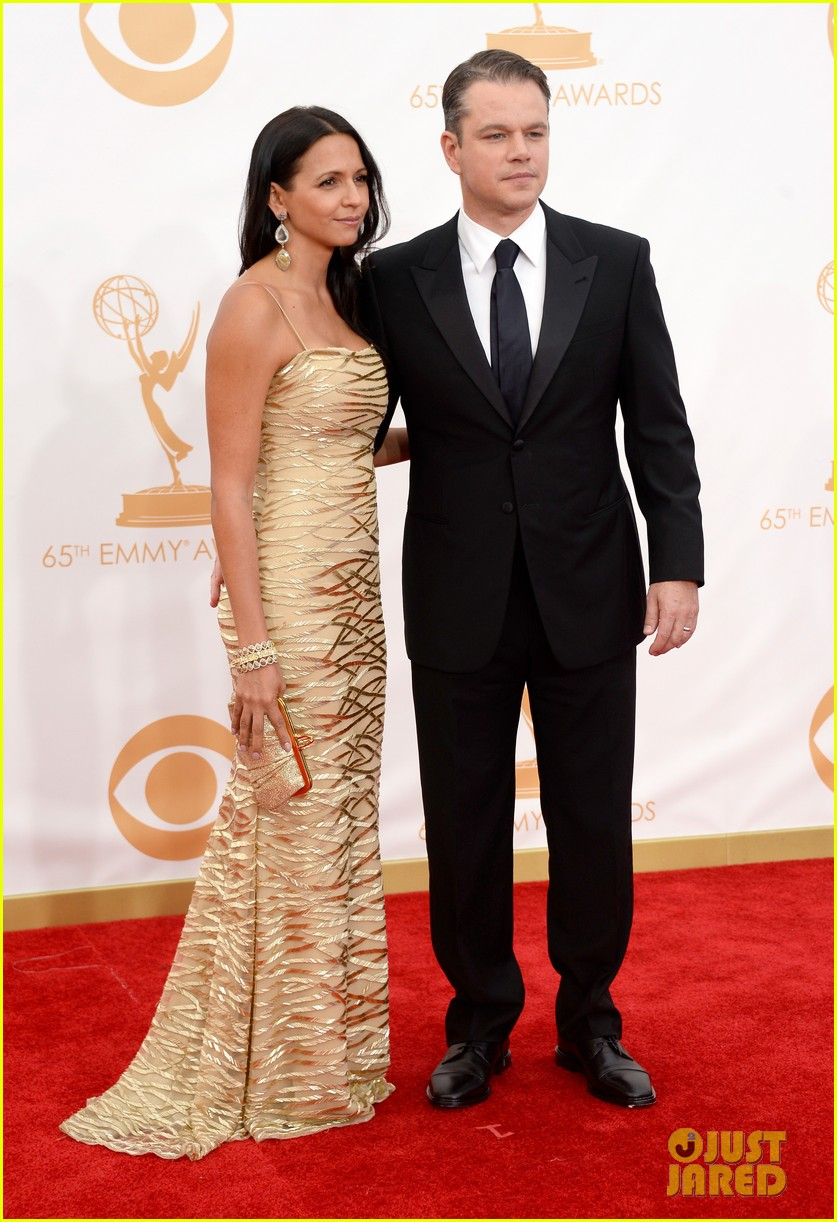 mattdamon michael douglas emmy awards red carpet 082958141