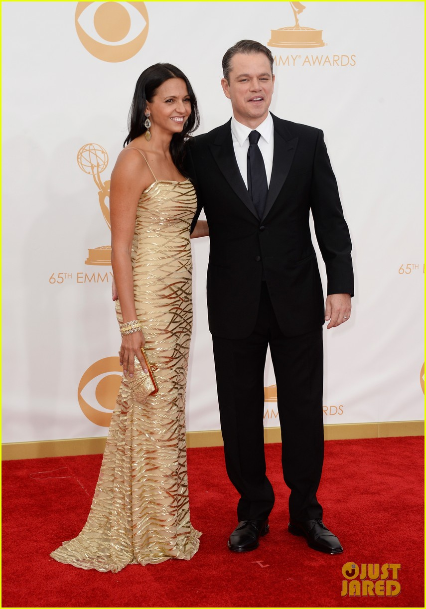 mattdamon michael douglas emmy awards red carpet 092958142