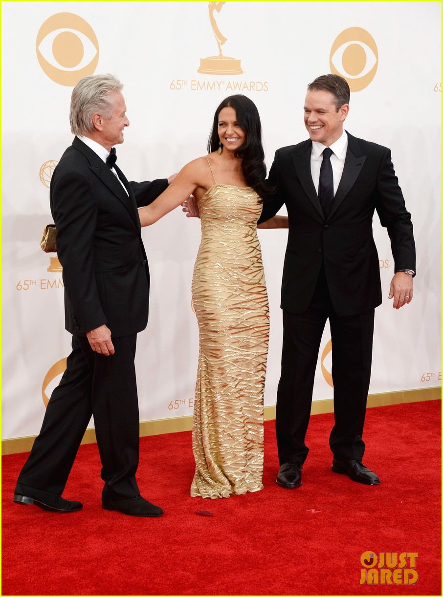 mattdamon michael douglas emmy awards red carpet 102958143
