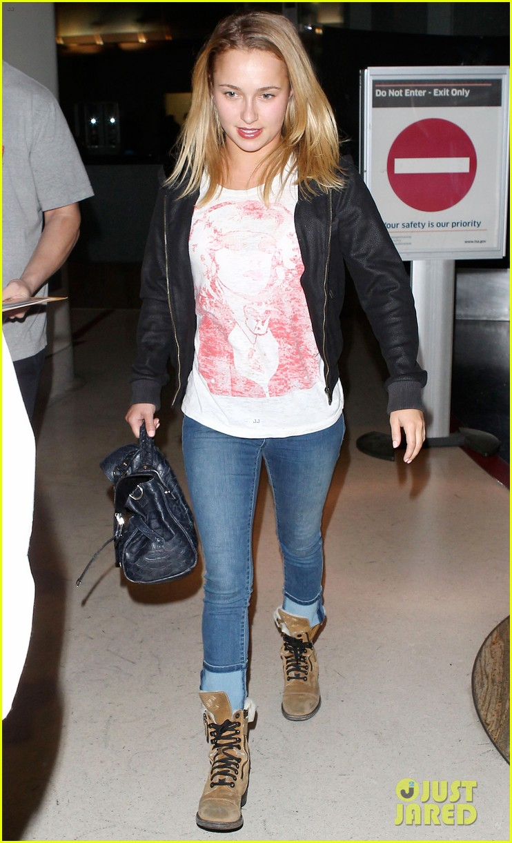 matt damon hayden panettiere arrive for emmys weekend 012957660
