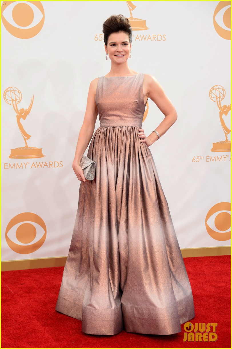 betsy brant dean norris emmys 2013 red carpet 012958149