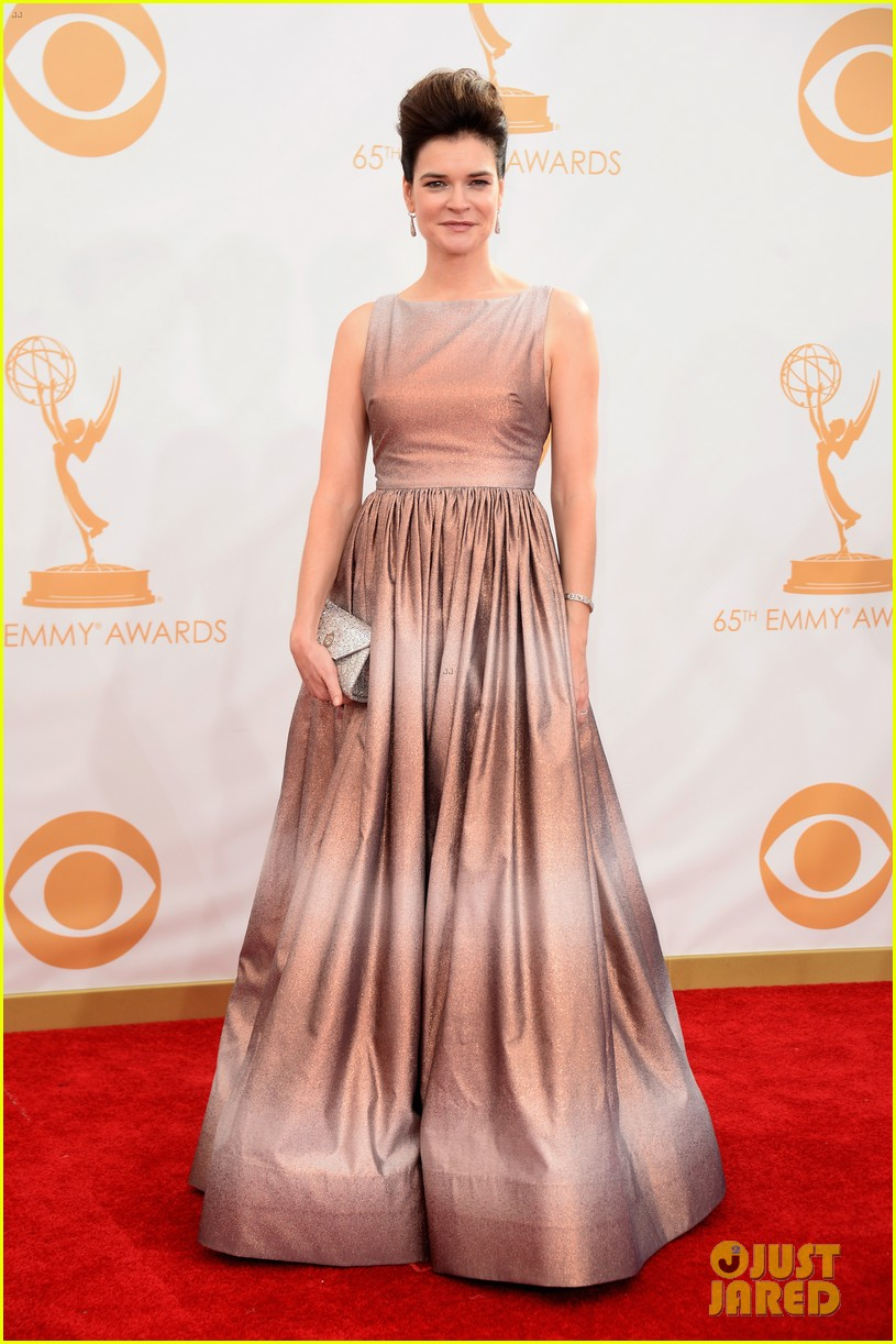 betsy brant dean norris emmys 2013 red carpet 102958158