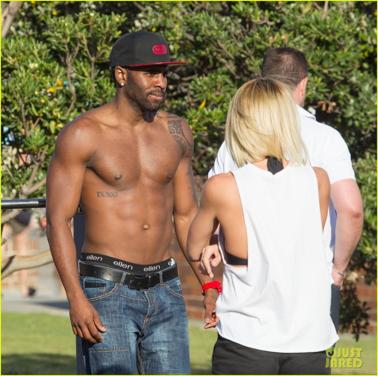 jason derulo shirtless workout in australia 122963163