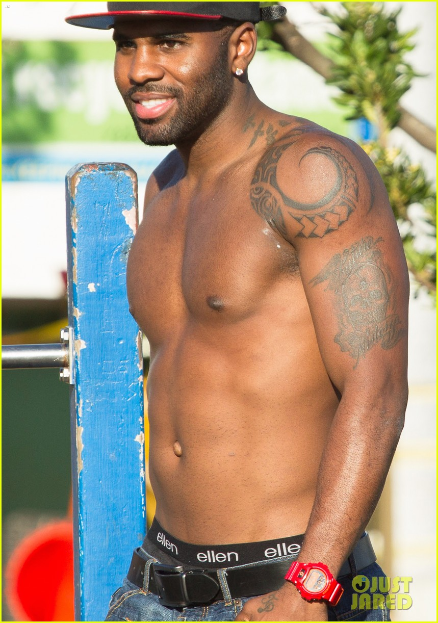 jason derulo shirtless workout in australia 202963171