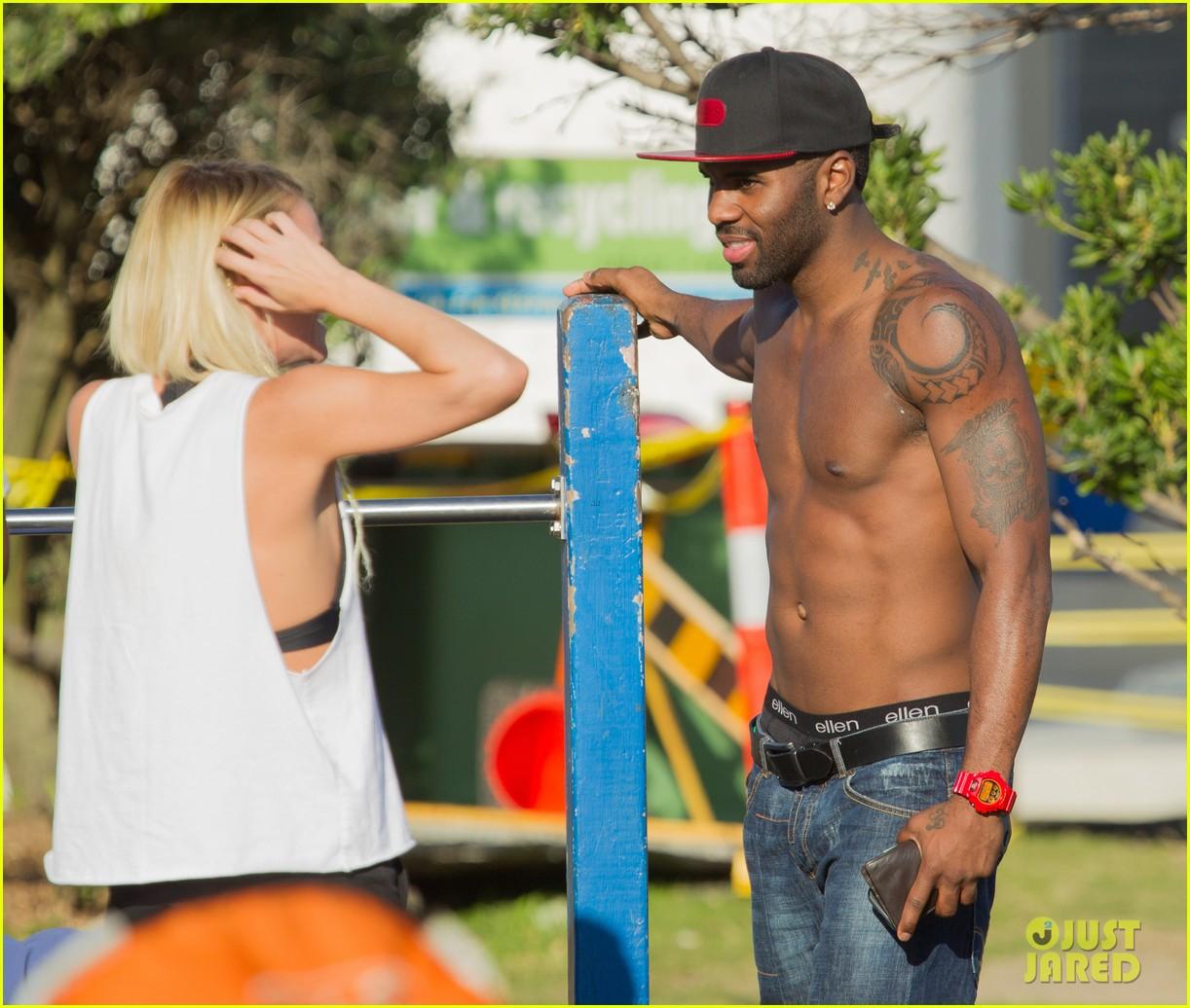 jason derulo shirtless workout in australia 212963172
