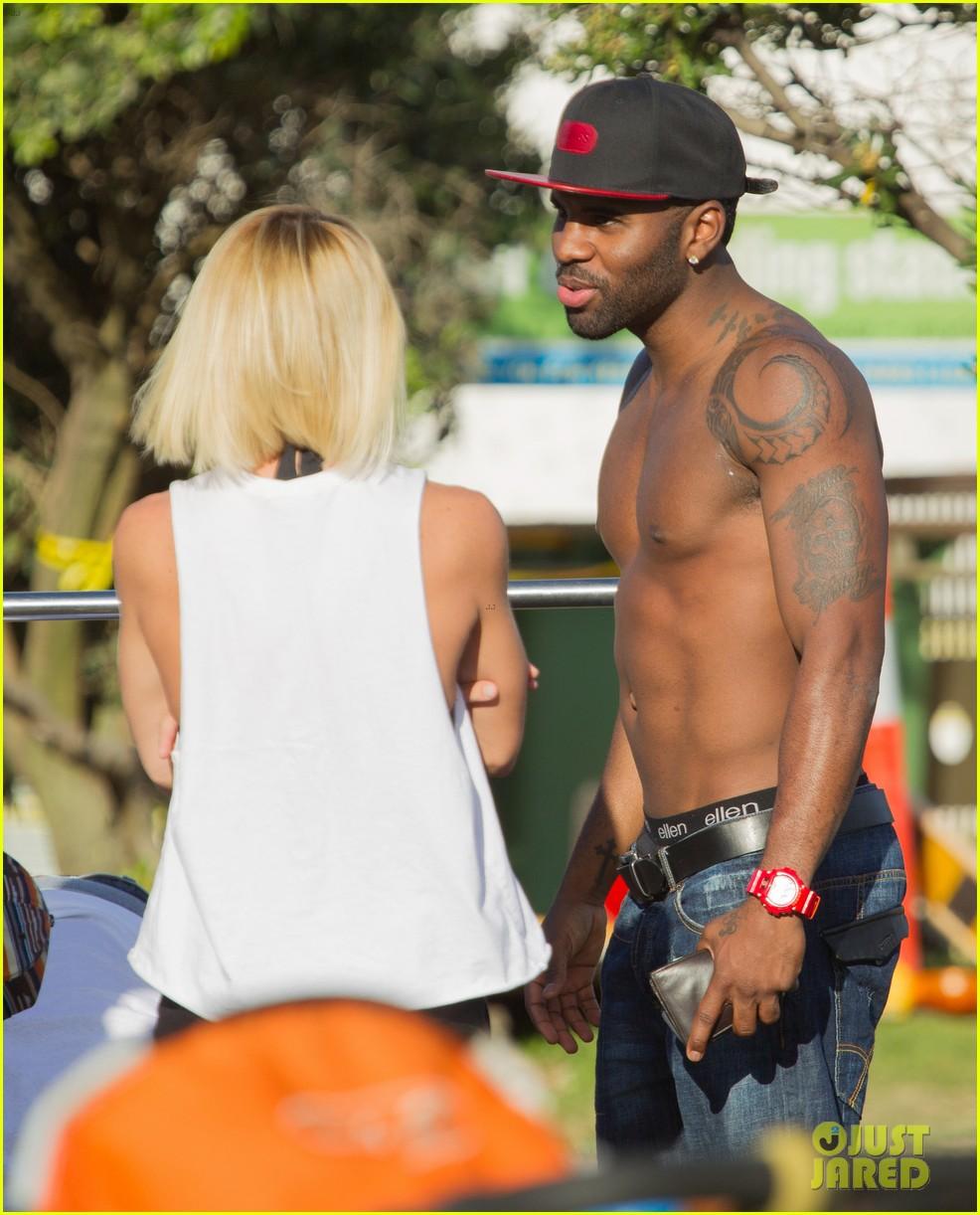 jason derulo shirtless workout in australia 242963175