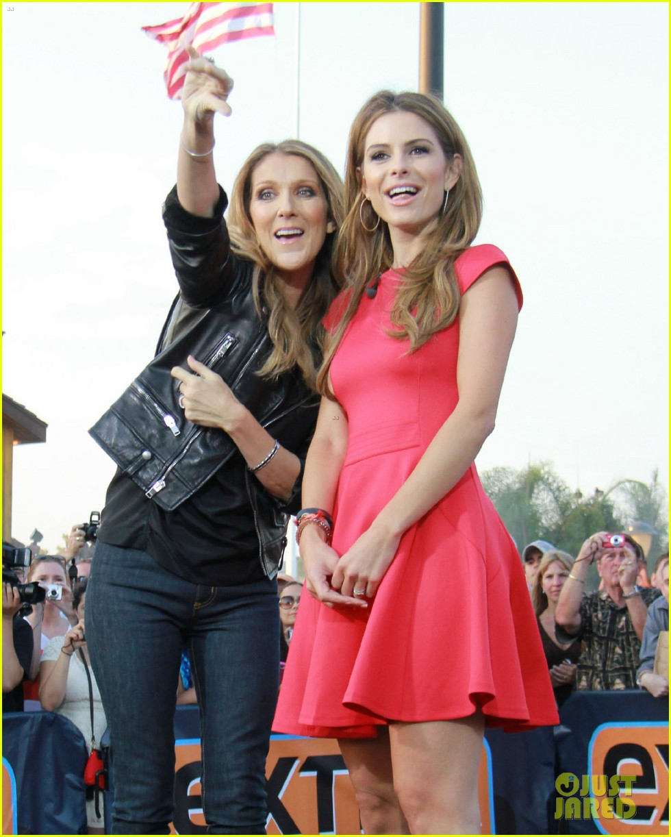 celine dion tapes extra appearance with maria menounos 042948973