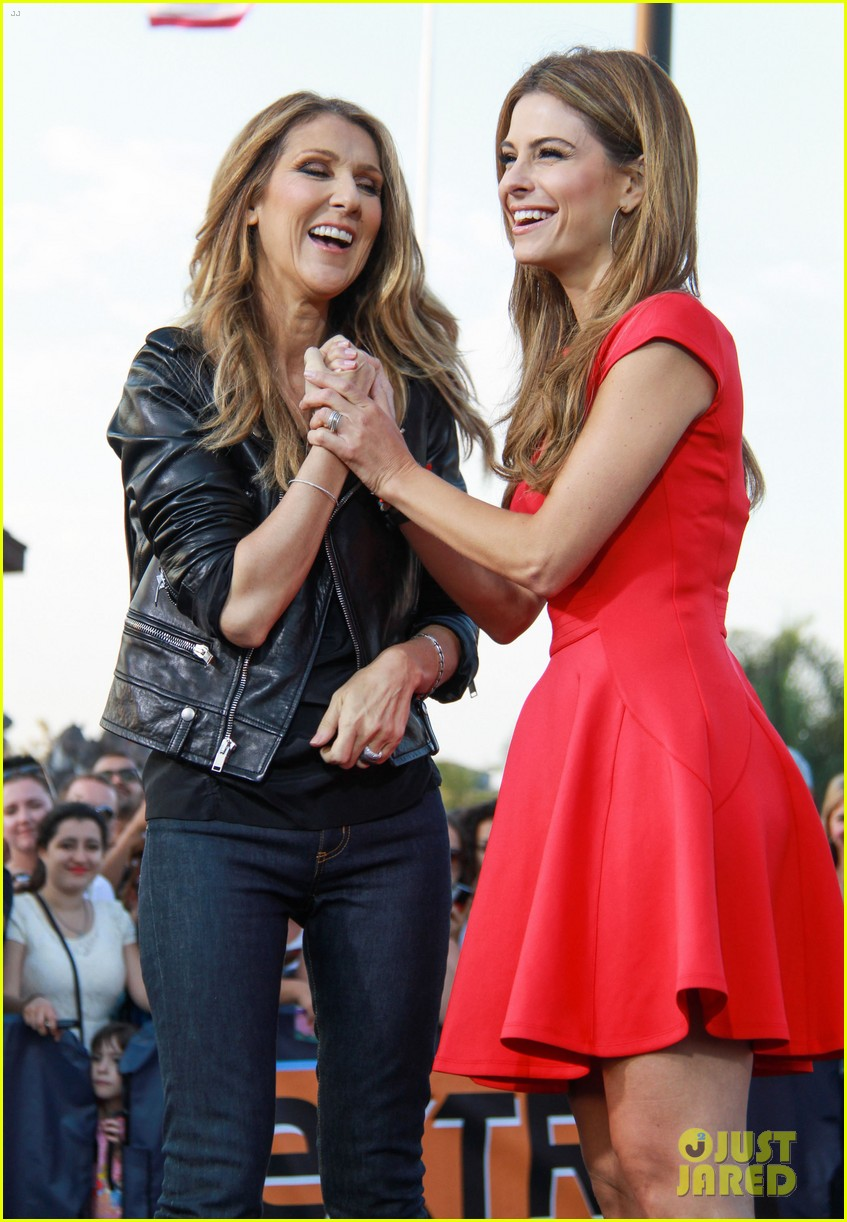 celine dion tapes extra appearance with maria menounos 062948975