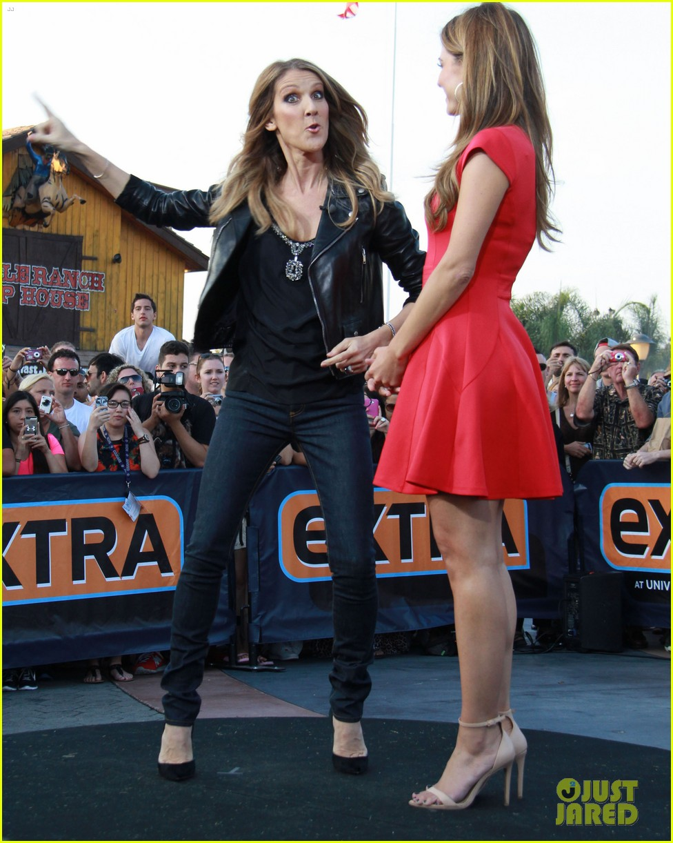 celine dion tapes extra appearance with maria menounos 082948977