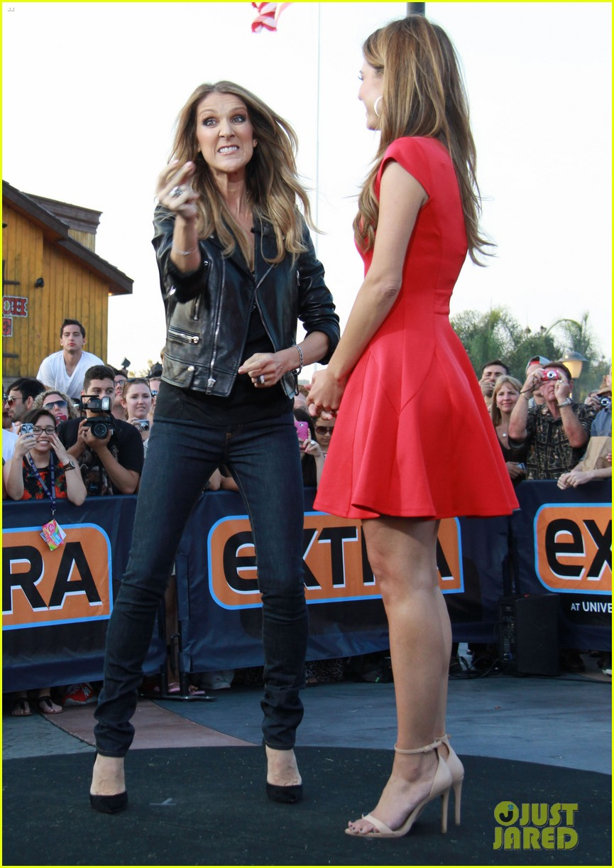 celine dion tapes extra appearance with maria menounos 092948978
