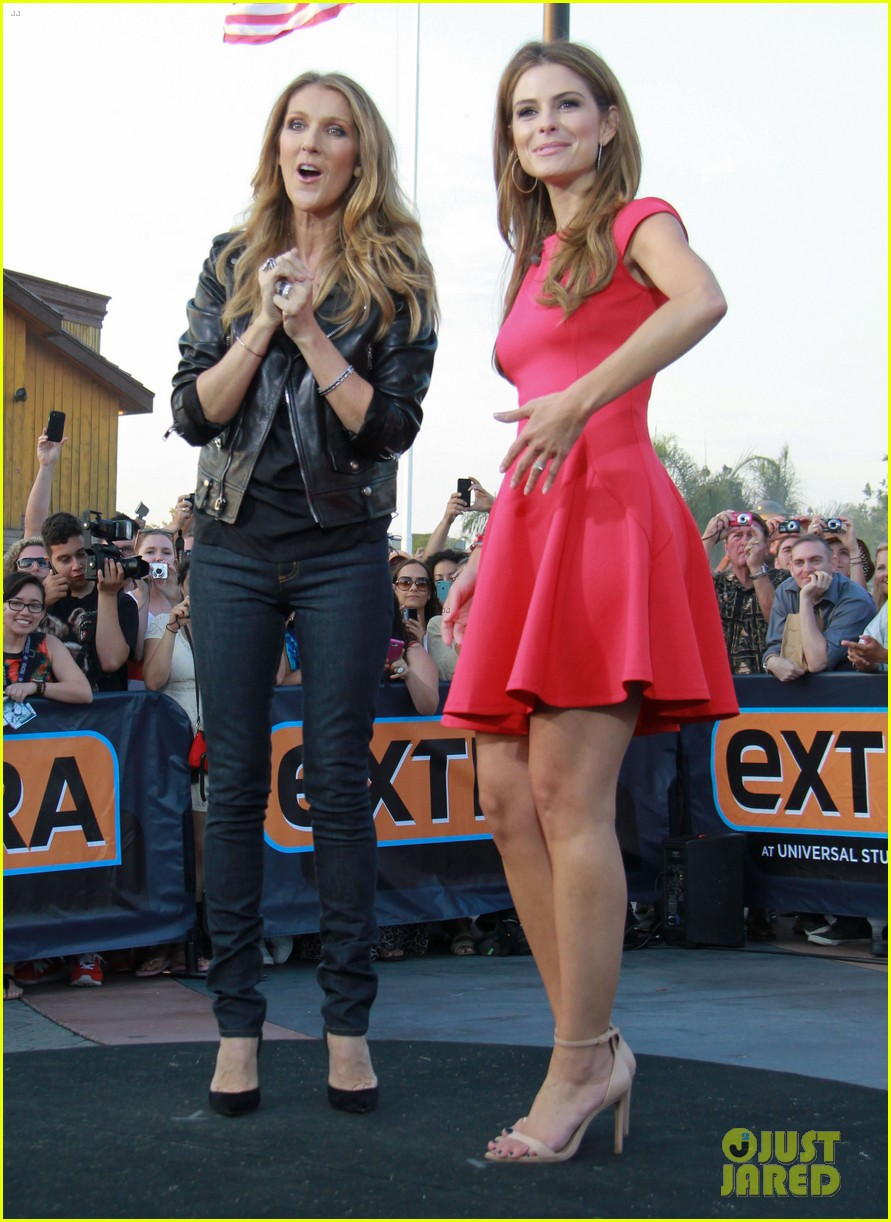celine dion tapes extra appearance with maria menounos 132948982