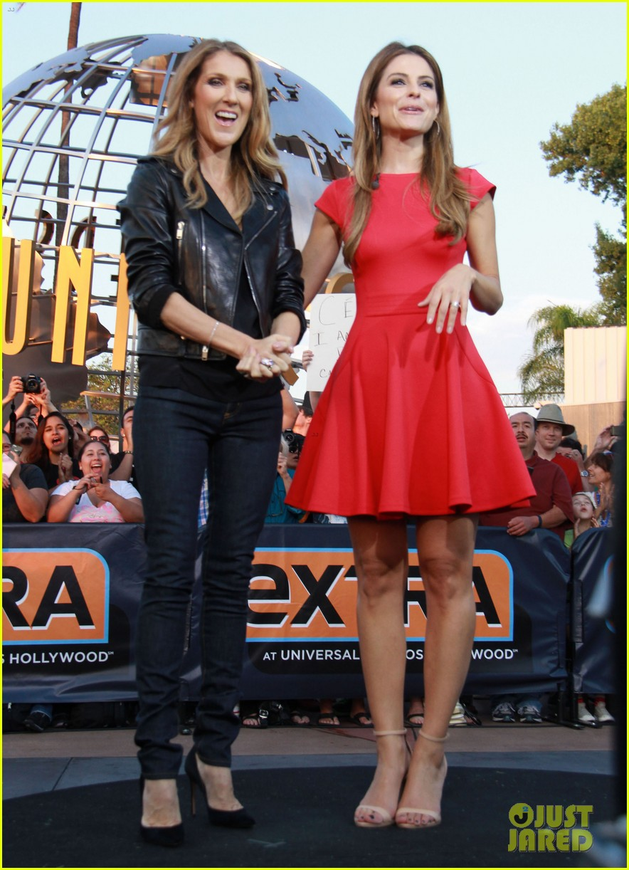 celine dion tapes extra appearance with maria menounos 142948983