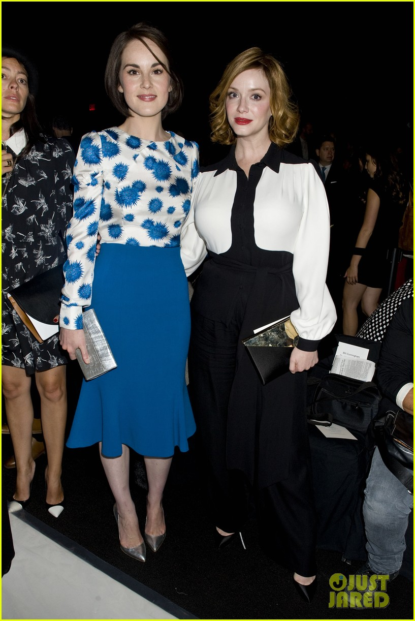 michelle dockery carolina herrera show 182949087