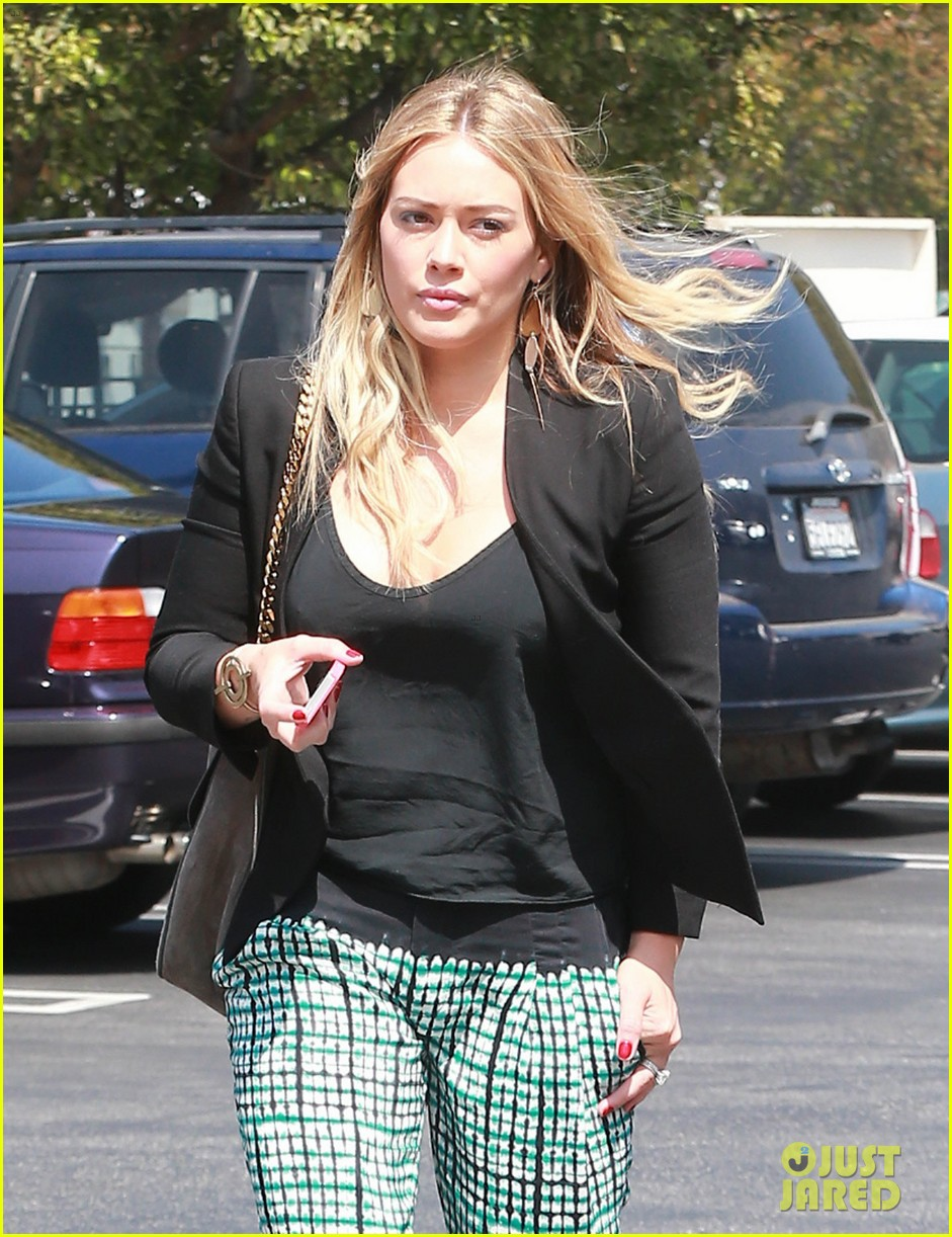 hilary duff the weeknd concert night out 032955169