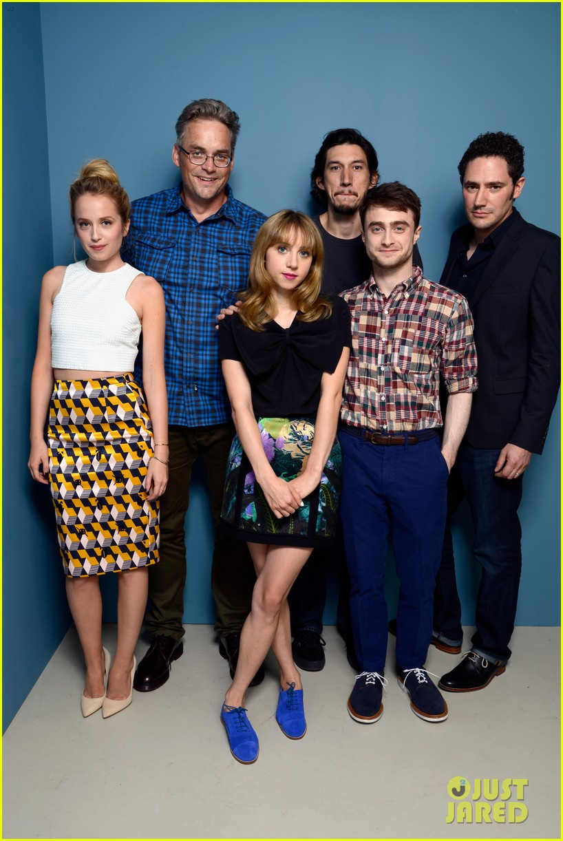 daniel radcliffe zoe kazan the f word portraits panel tiff 302947214