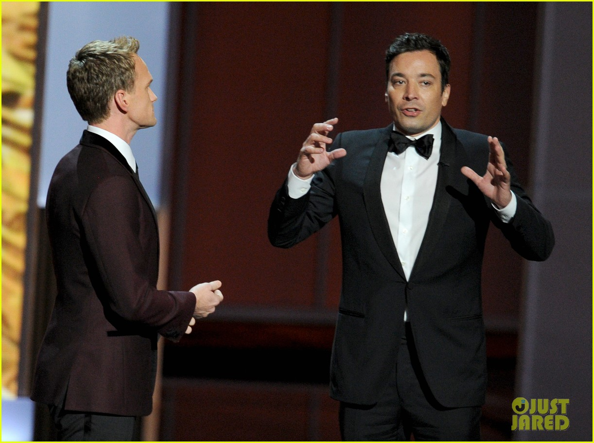 jimmy fallon seth meyers emmys 2013 with jimmy kimmel 12