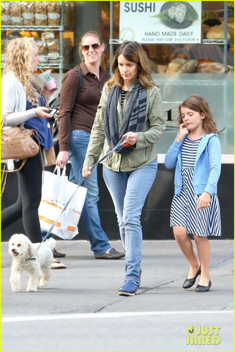 tina fey steps out with daughter alice after snl episode 092963329