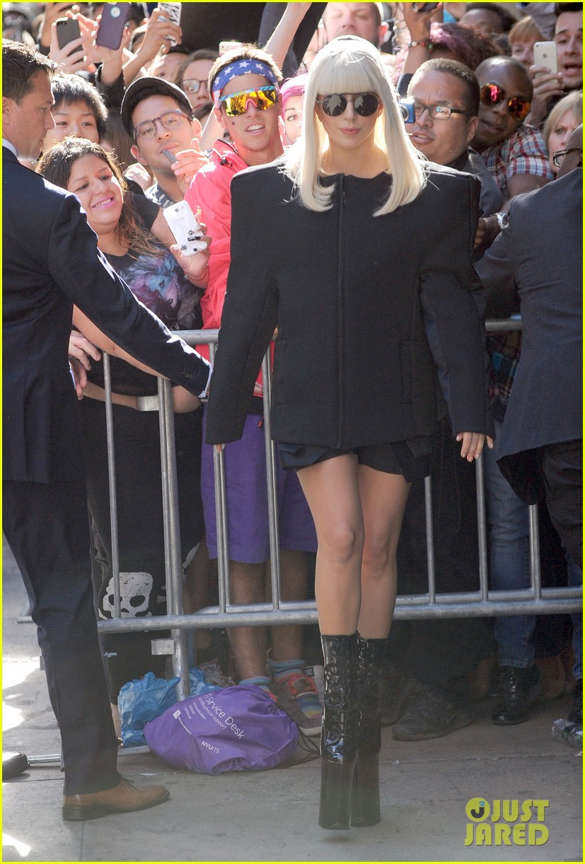 lady gaga serena williams exit good morning america studio 072948253