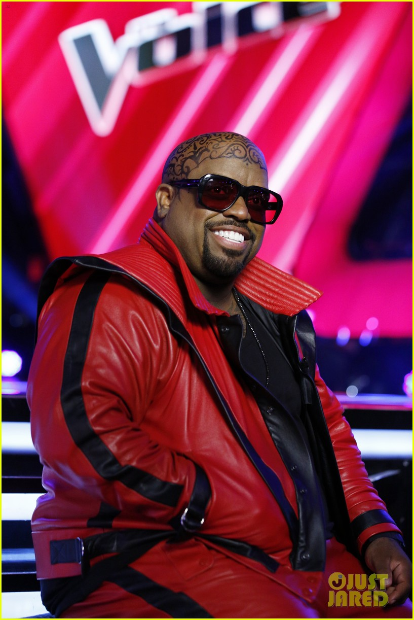 cee lo green head tattoo on the voice see the ink 032958899