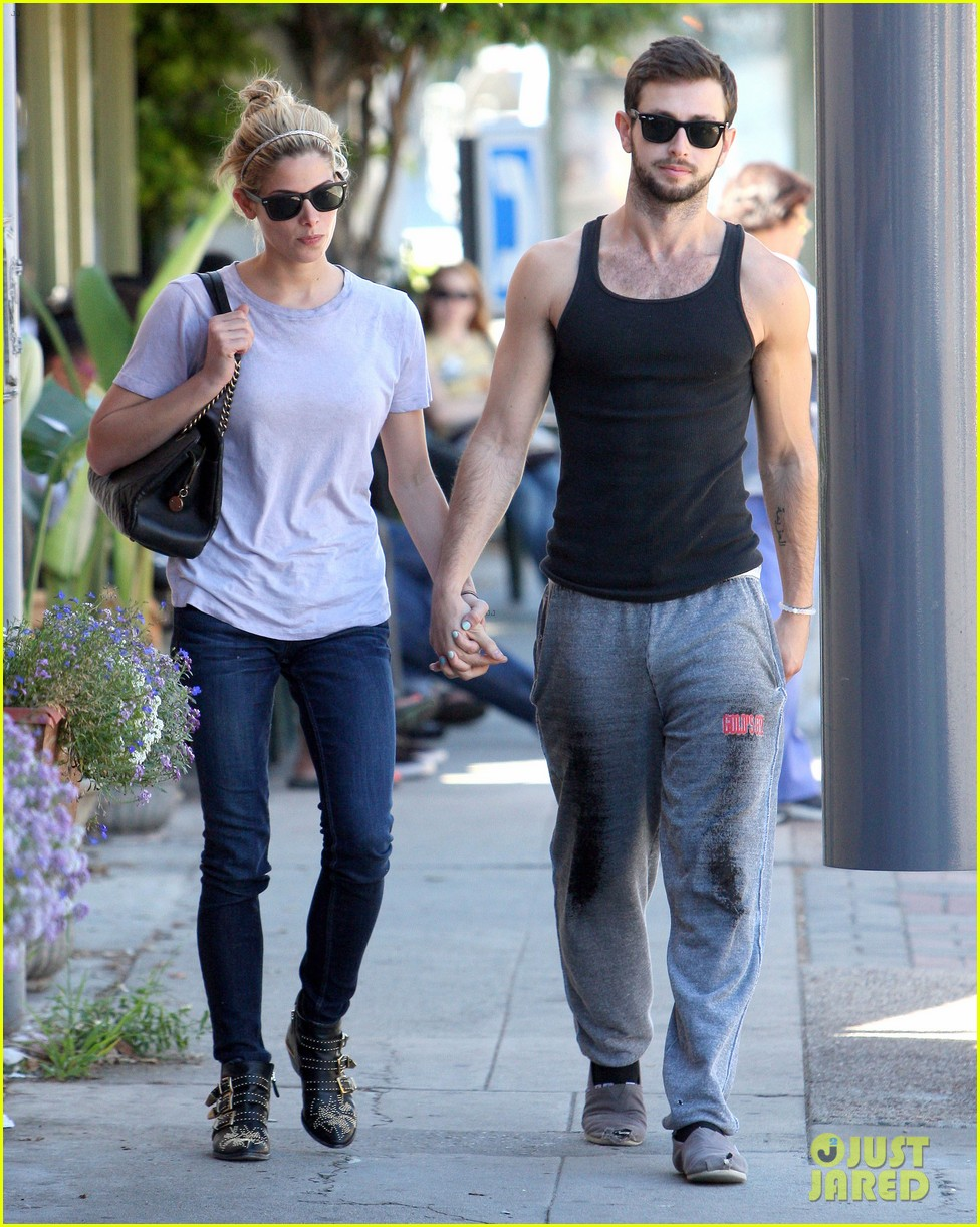 ashley greene holds hands with mystery man 252963093