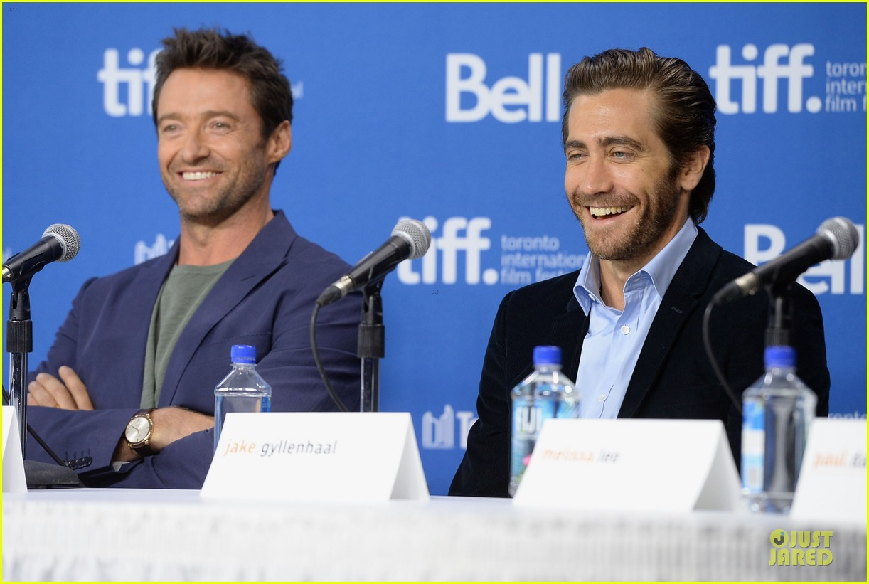 jake gyllenhaal hugh jackman prisoners tiff press conference 162945977