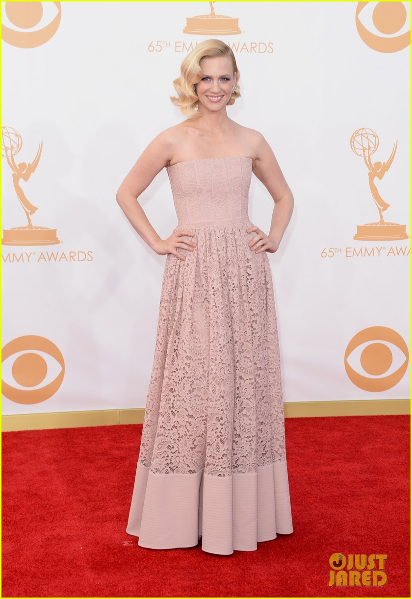 jon hamm january jones emmys 2013 red carpet 032958146