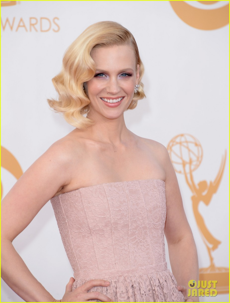 jon hamm january jones emmys 2013 red carpet 042958147