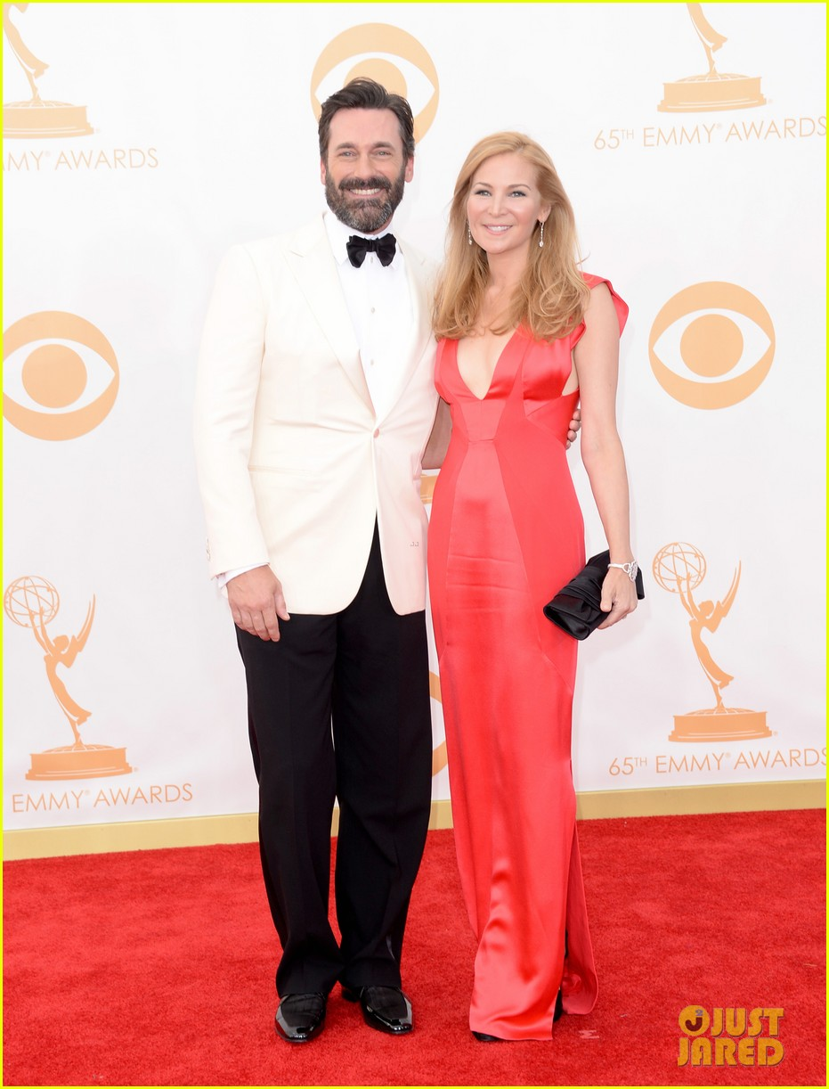 jon hamm january jones emmys 2013 red carpet 052958148