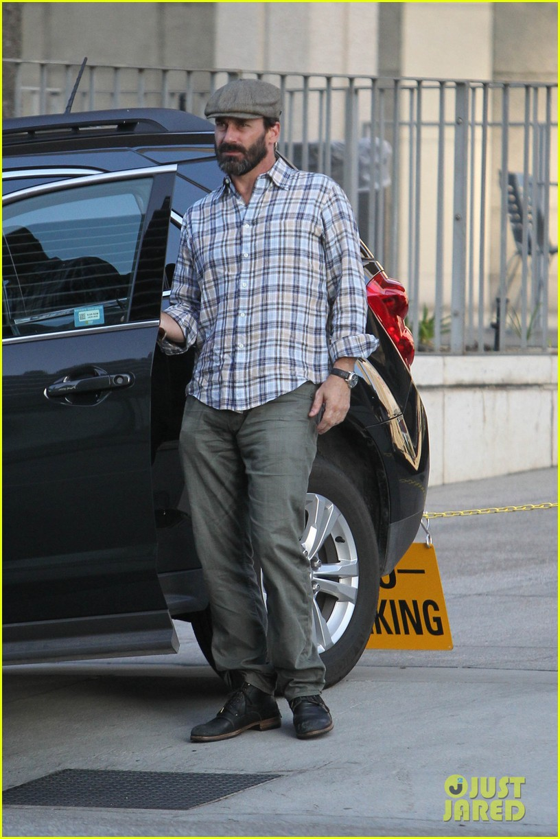 jon hamm shows off scruffy after mad men final season announced 052956178