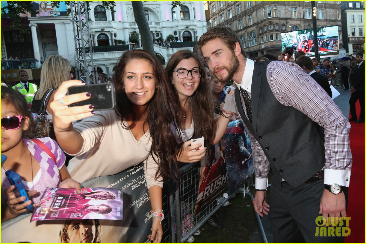 liam hemsworth supports brother chris at rush premiere 092942533