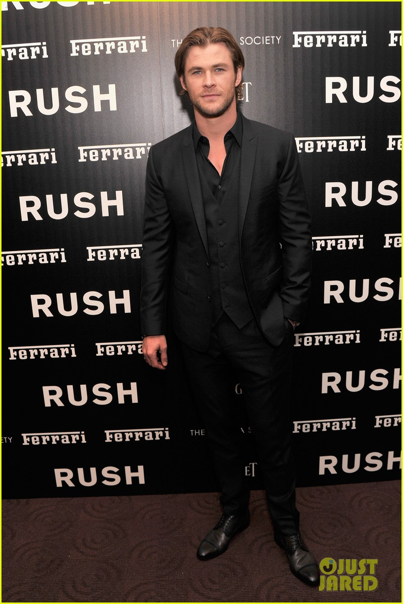chris hemsworth daniel bruhl rush new york screening 072954868
