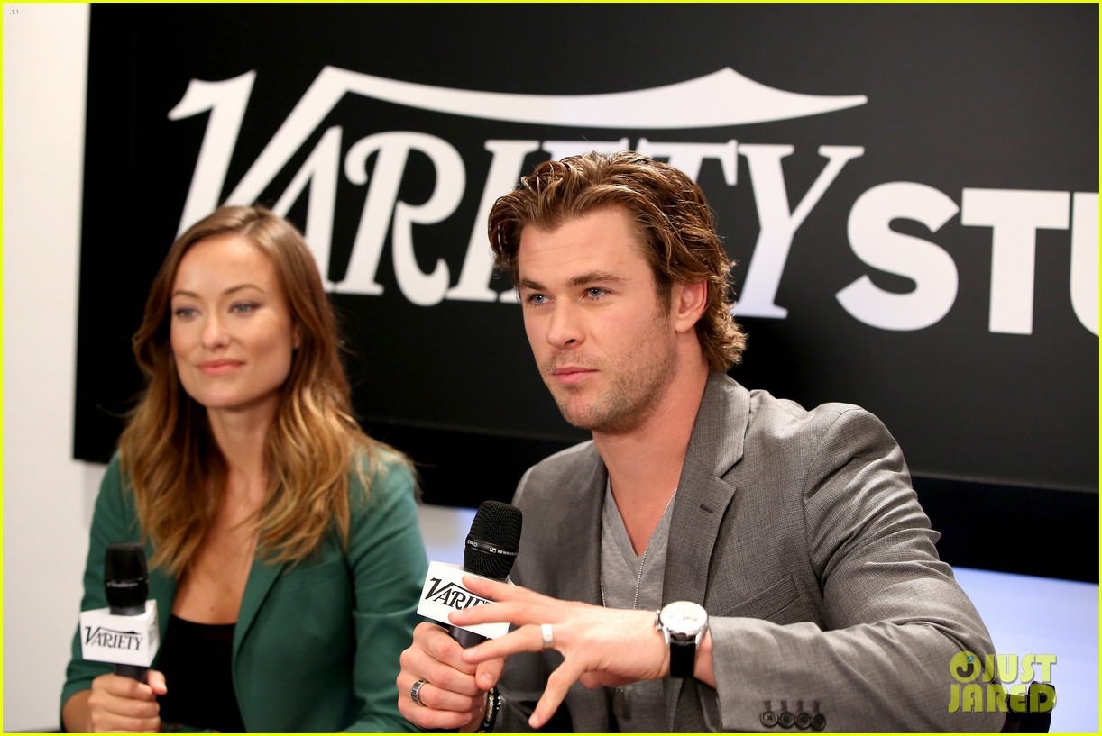 chris hemsworth olivia wilde variety studio at tiff 2013 12