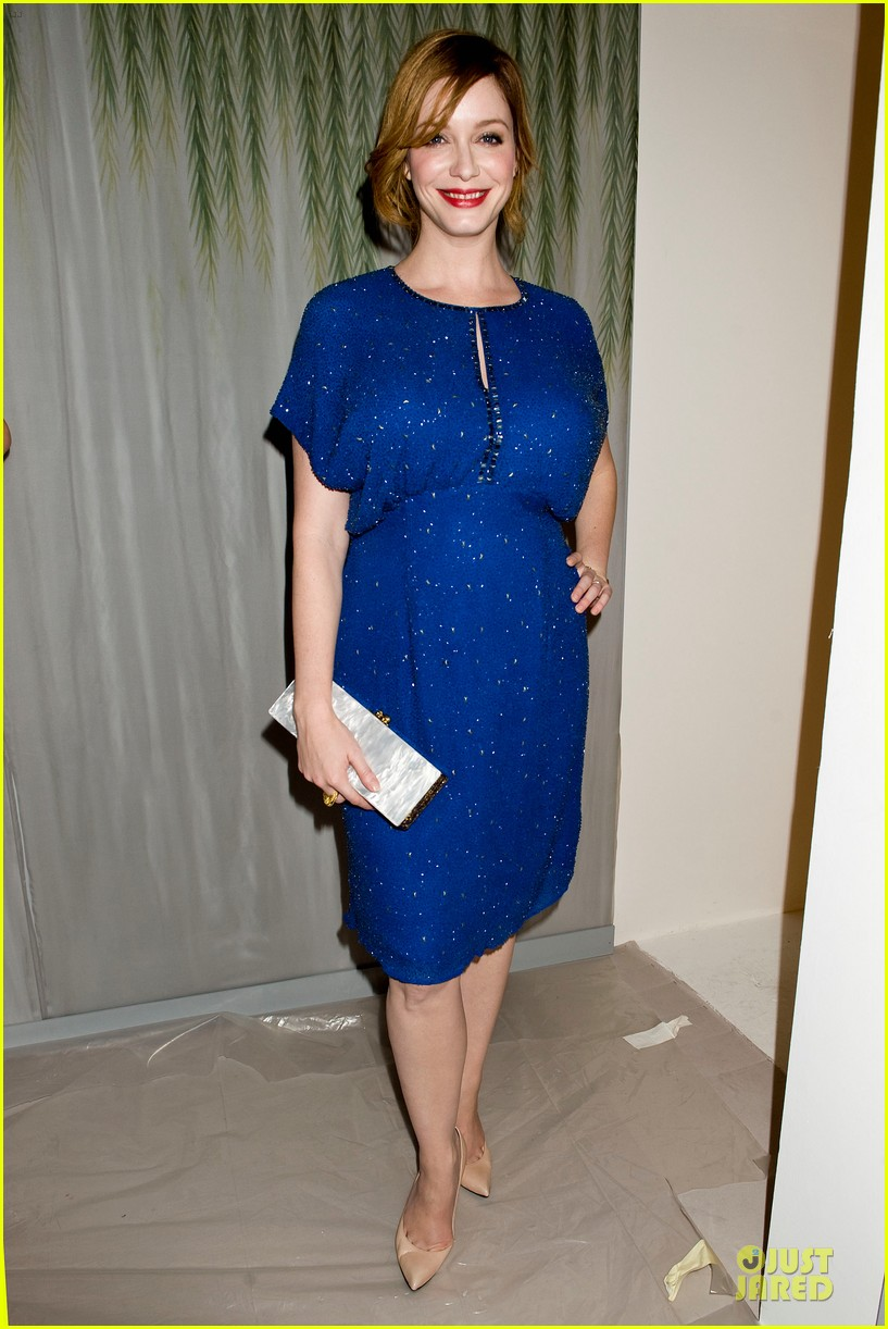 christina hendricks louise roe jenny packham fashion show 082949794