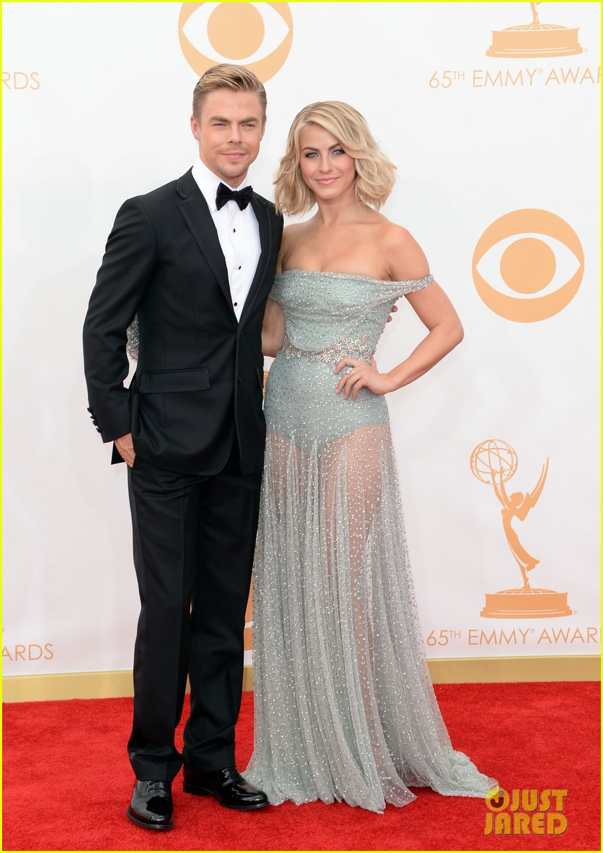 julianne hough emmys 2013 red carpet with brother derek 032958182