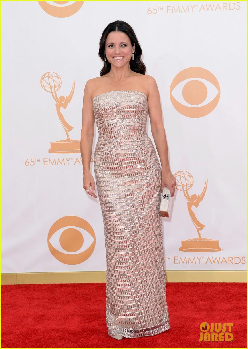 julie louis dreyfus emmys 2013 red carpet 012957992