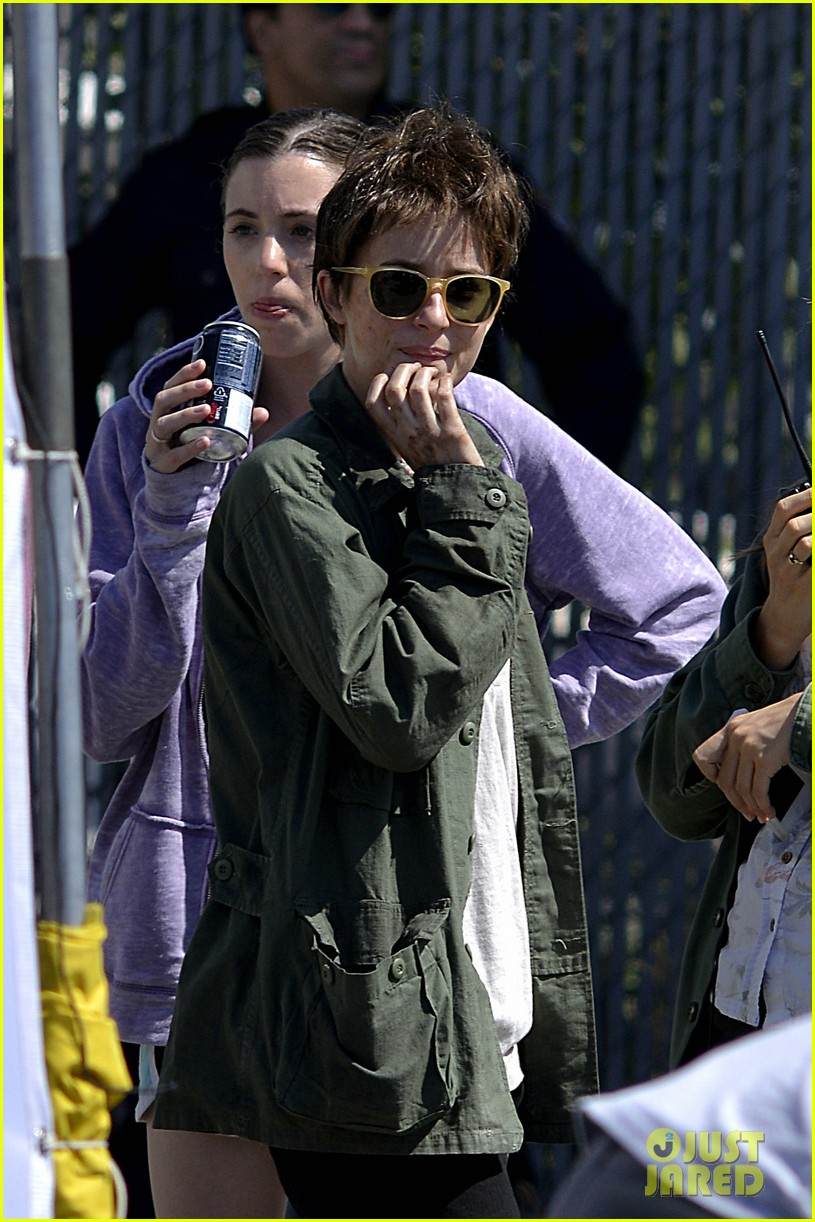 dakota johnson sports short brown hair for cymbeline 12