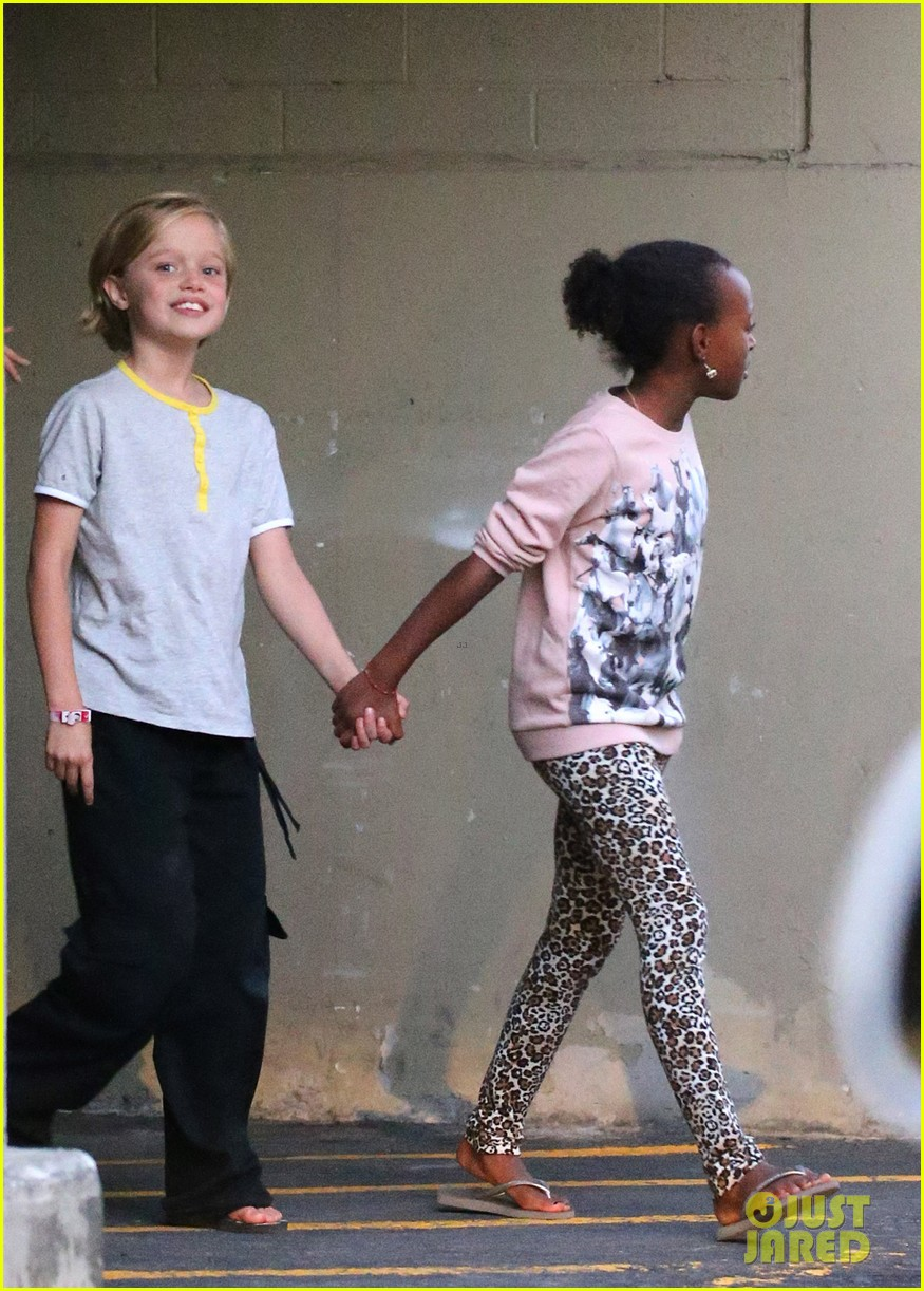 angelina jolie goes bowling in australia with all six kids 102949249