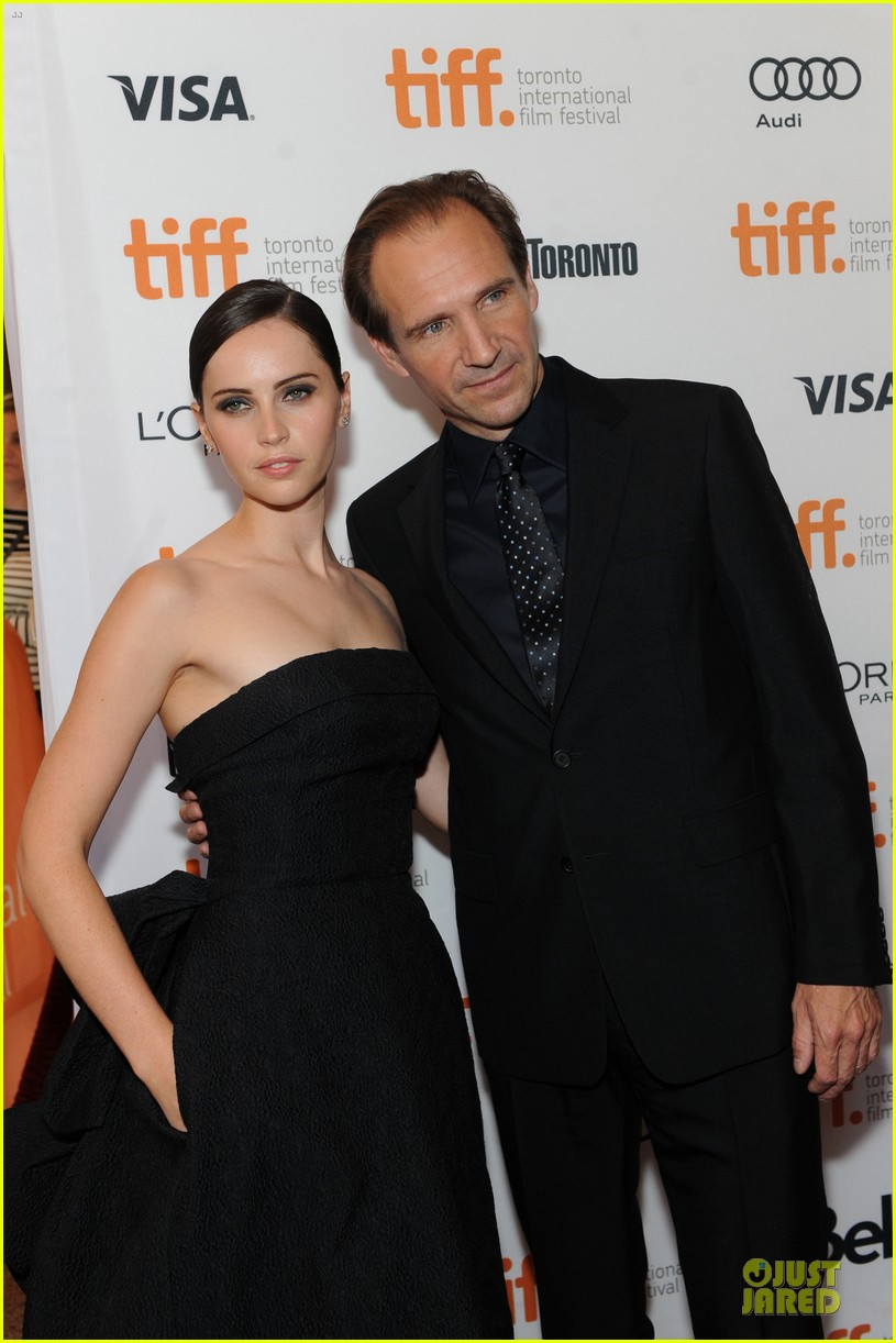 felicity jones ralph fiennes invisible woman tiff premiere 262948611