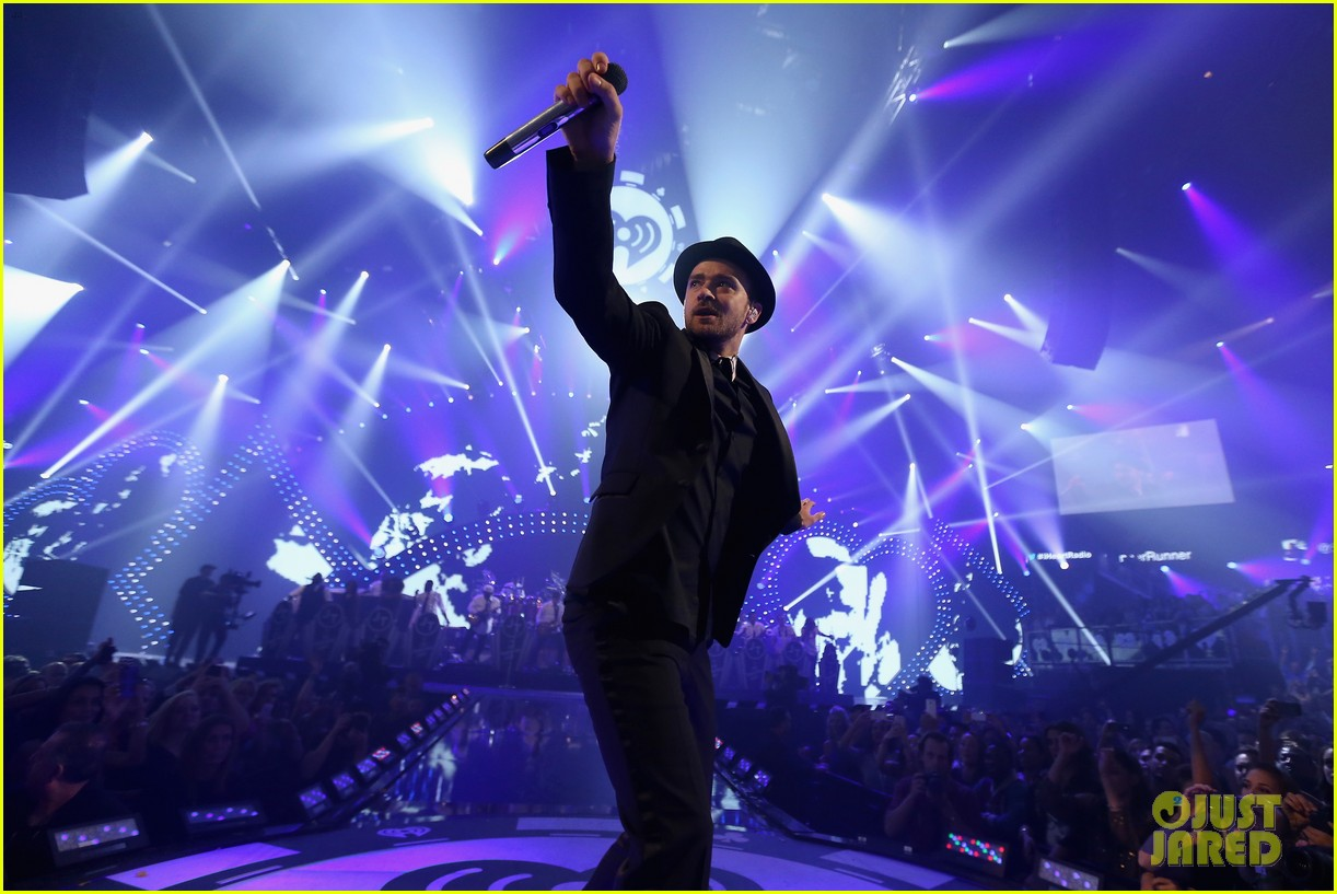 justin timberlake debuts two new songs iheartradio watch 112957349