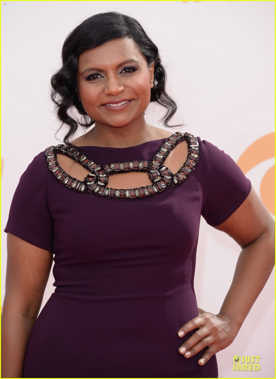 mindy kaling emmys 2013 red carpet 042957989