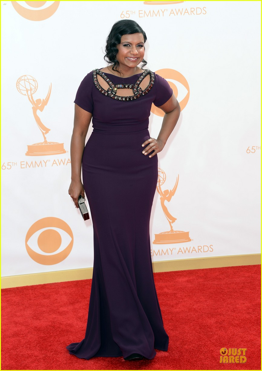 mindy kaling emmys 2013 red carpet 052957990