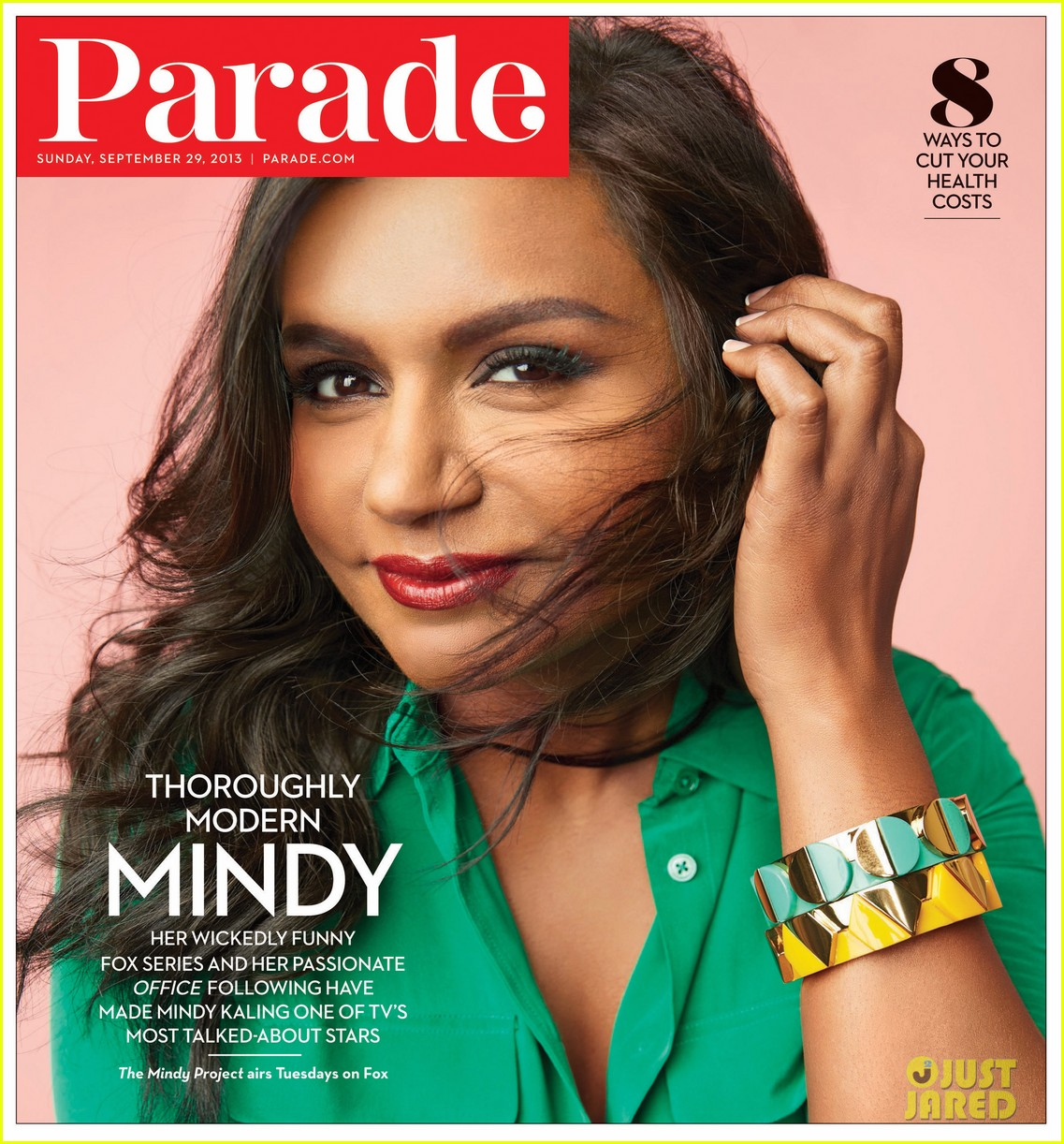 mindy kaling covers parades latest issue 012960644