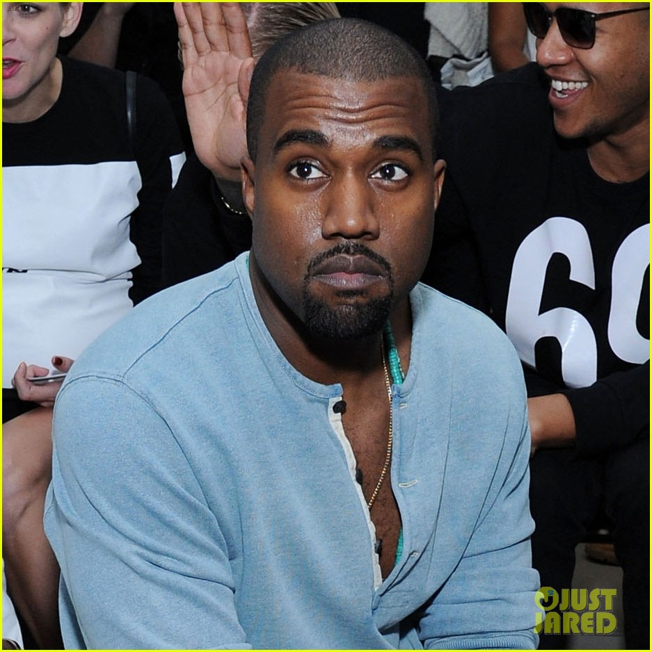 kanye west front row at hood by air fashion show 042947144