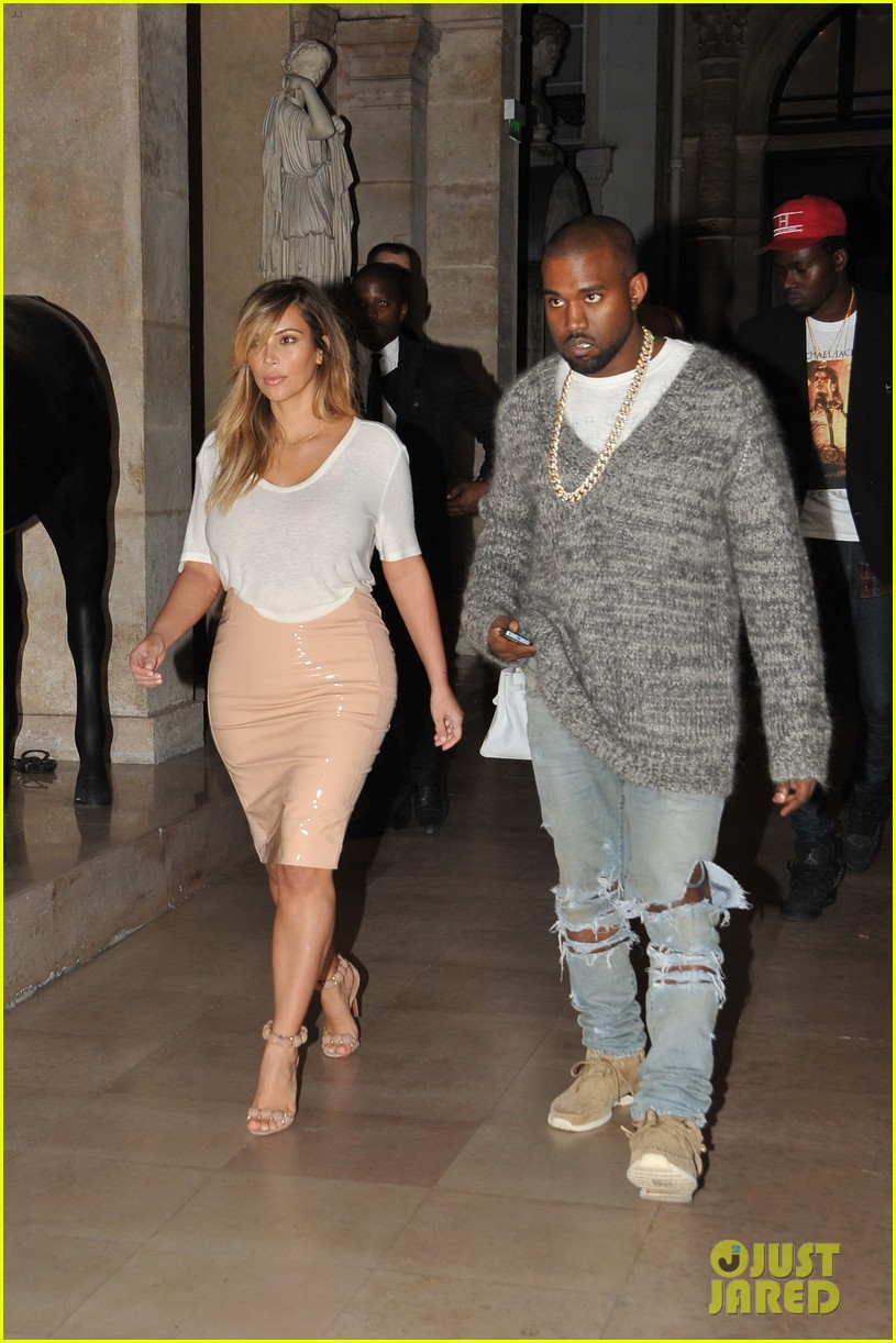 kim kardashian kanye west parisian dinner date 022963304