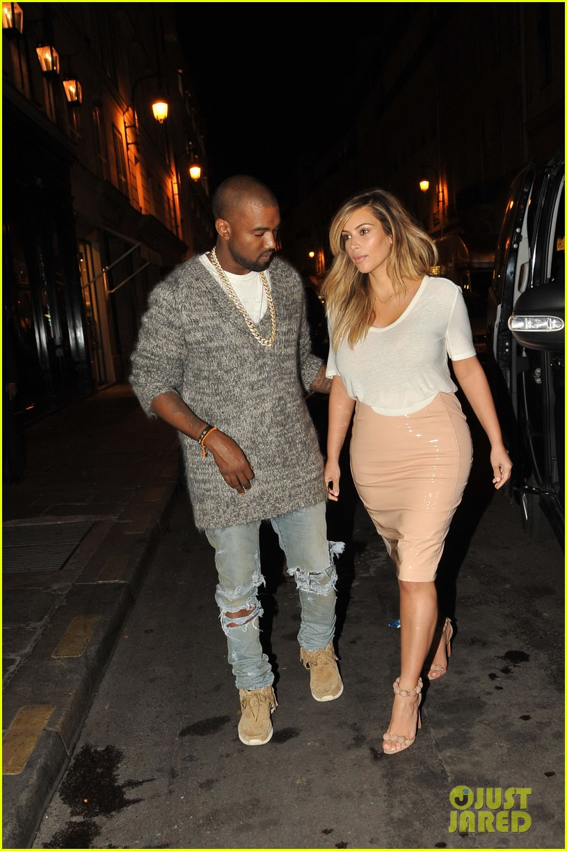 kim kardashian kanye west parisian dinner date 042963306