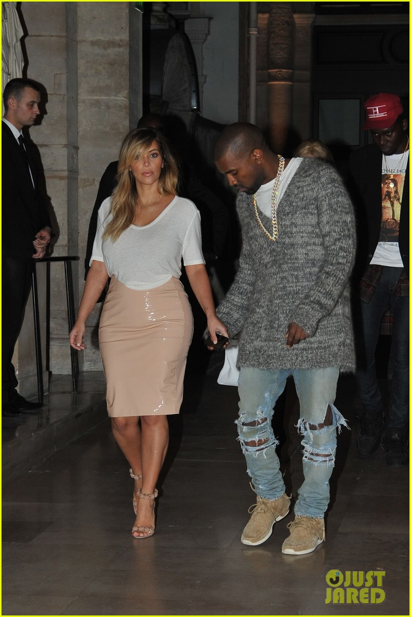 kim kardashian kanye west parisian dinner date 062963308