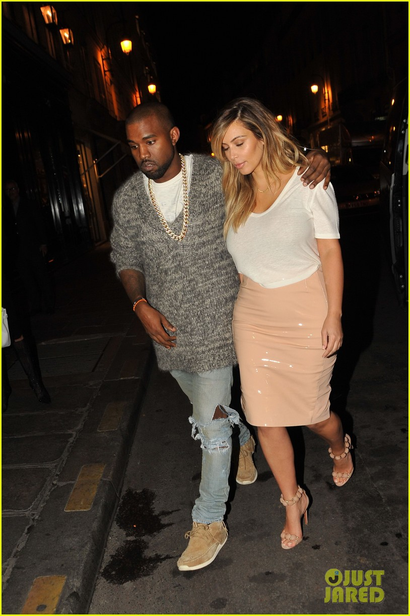 kim kardashian kanye west parisian dinner date 08