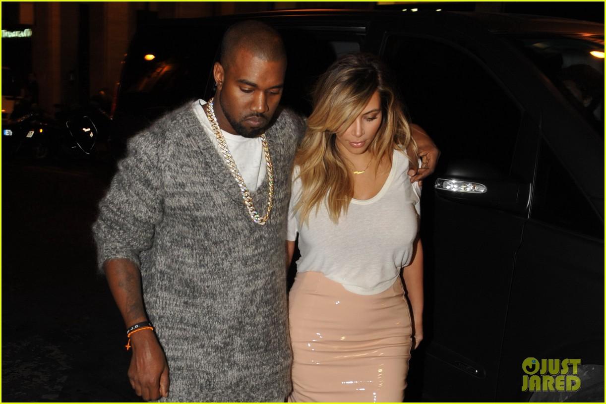 kim kardashian kanye west parisian dinner date 142963316