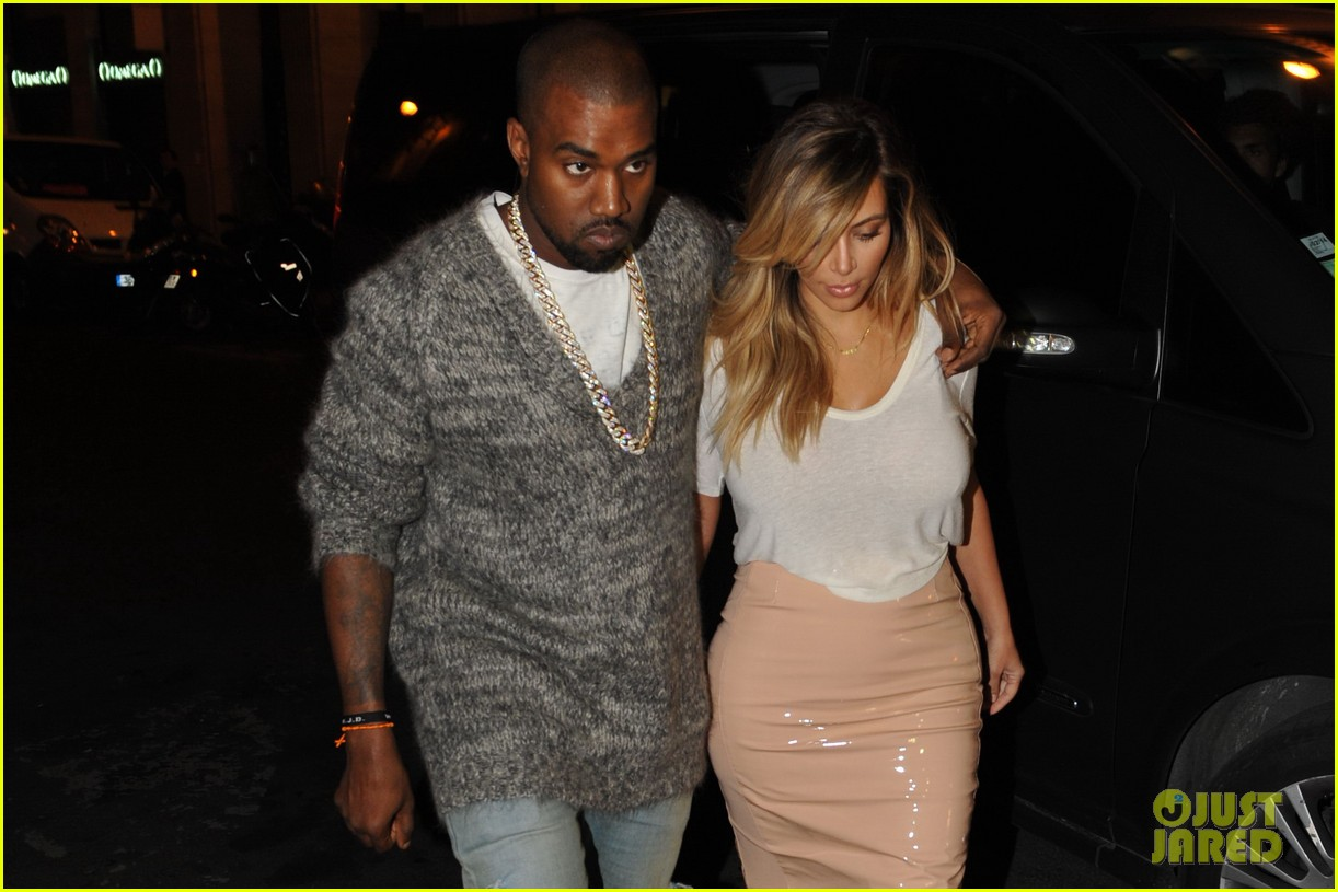 kim kardashian kanye west parisian dinner date 152963317